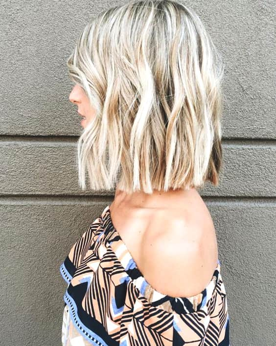 blunt lob haircut fall hair trends