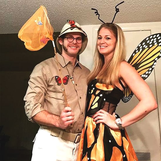 butterfly and butterfly catcher halloween couples costume idea