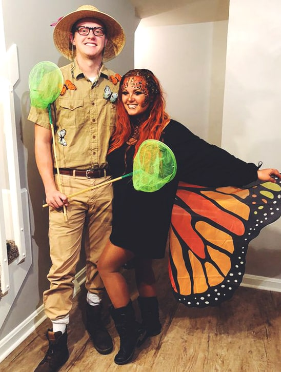 butterfly costume halloween ideas for couples