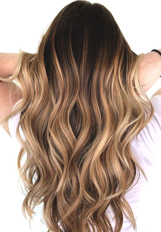 caramel highlights fall hair color trends