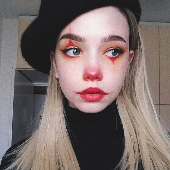 clown makeup idea for halloween