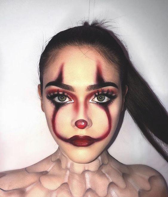 clown makeup idea sexy spooky halloween makeup