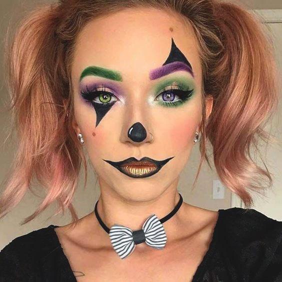 cute clown makeup idea for halloween 2019