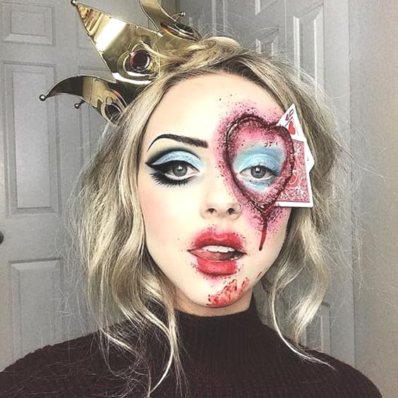 evil princess card makeup for halloween