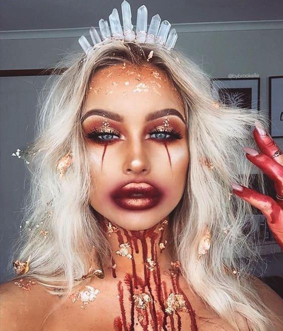 evil princess halloween makeup idea