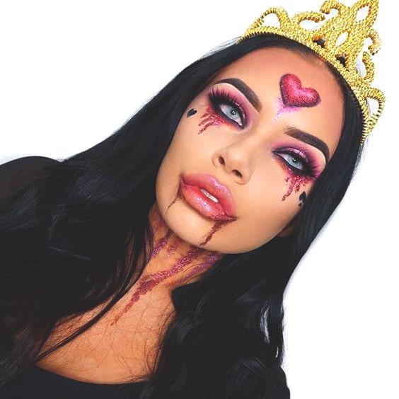 evil princess halloween makeup