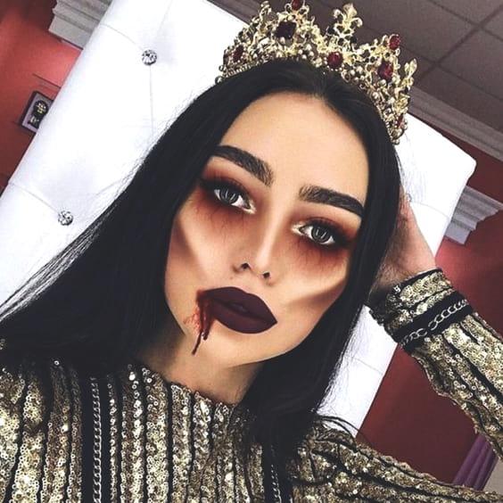 evil princess makeup halloween