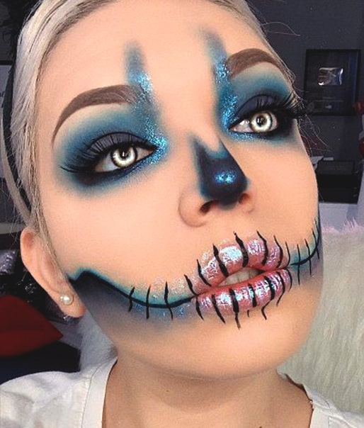 glam skull makeup idea halloween makeup looks