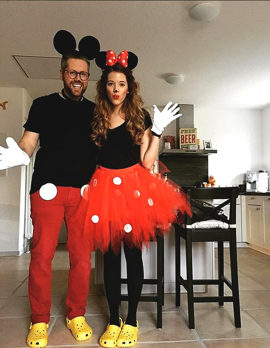 halloween costume ideas for couples mickey and minnie