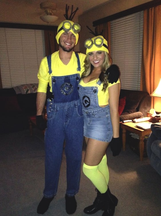 halloween minion couples costume
