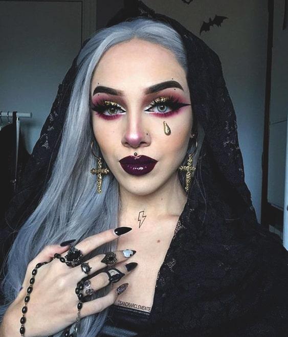 halloween witch makeup idea