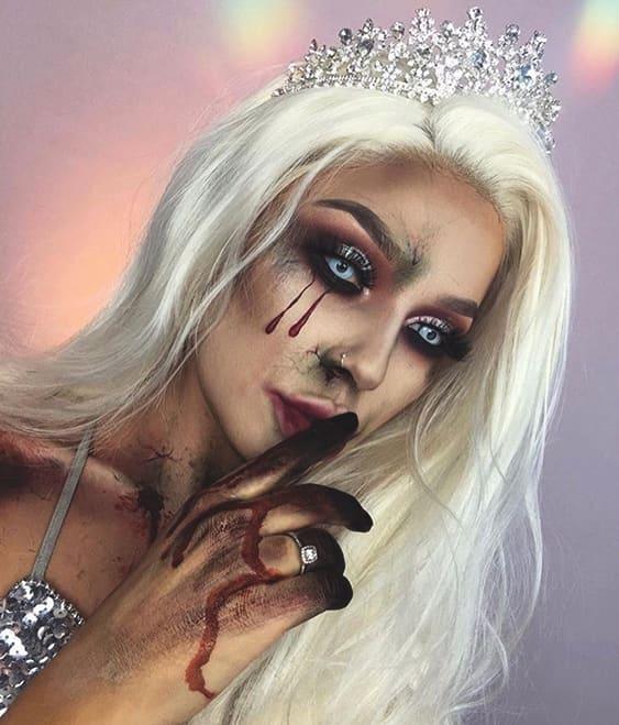 ice princess spooky sexy halloween makeup ideas
