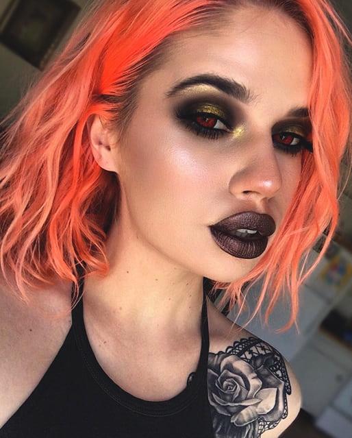 pretty vampire makeup look sexy halloween makeup ideas