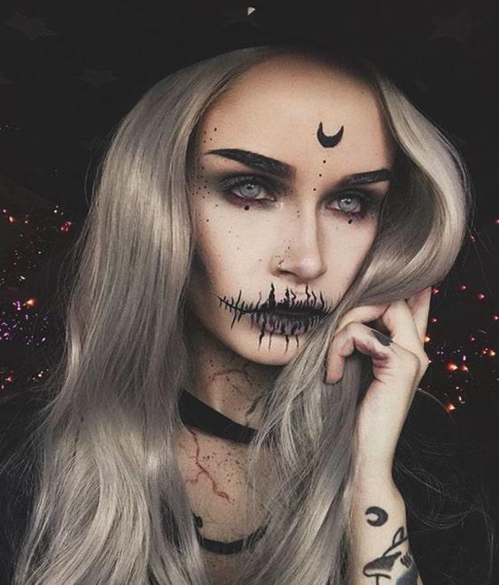 pretty witch makeup halloween makeup ideas