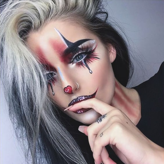 spooky and sexy halloween makeup ideas clown makeup