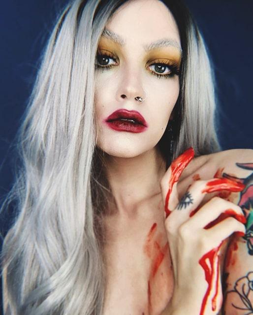 vampire makeup look last minute halloween makeup idea