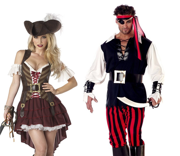 Costumes Pirates Halloween Couples