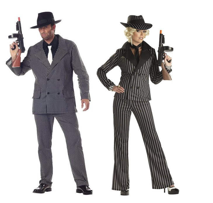Gangster Couples Costume Halloween