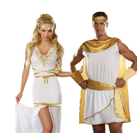 Greek God Goddess Costumes Halloween Couple