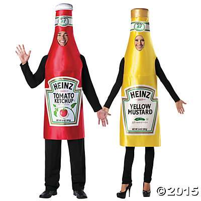 Halloween Couples Costumes Condiments Ketchup & Mustard