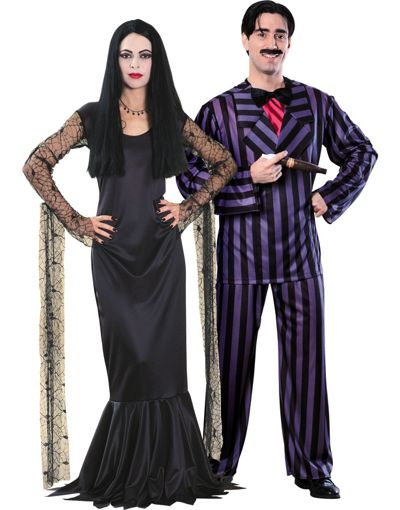 Adams Family Costumes Gomez and Morticia