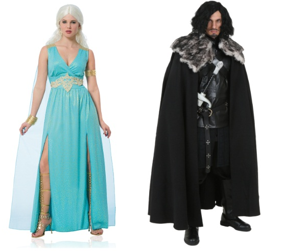 Halloween Couples Costumes Ideas Daenerys Jon Snow Game of Thrones