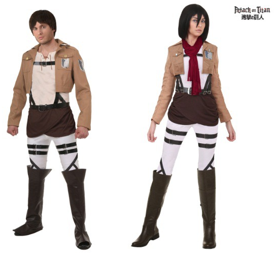 Halloween Couples Costumes Ideas Eren Mikasa Attack on Titan