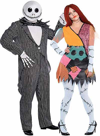 Halloween Couples Costumes Ideas Jack Skellington Sally