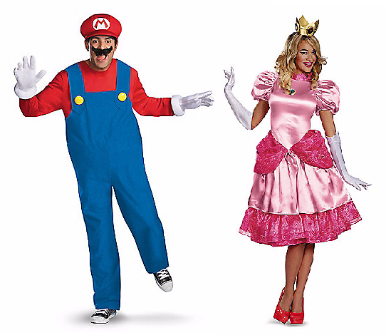Halloween Couples Costumes Ideas Super Mario Bross Princess Peach
