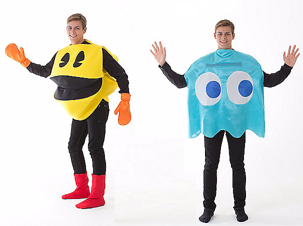 Halloween Couples Costumes Ideas Pac man Ghost