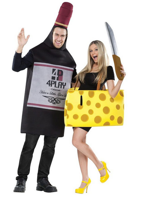 Halloween Couples Costumes Ideas wine cheese