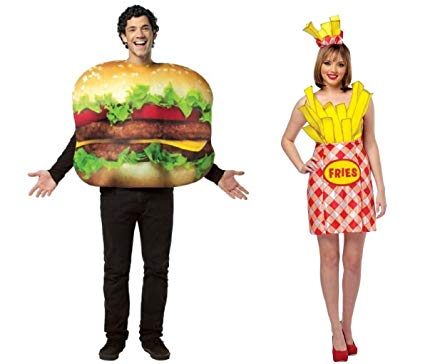 Hamburger French Fries Costume Halloween Couple