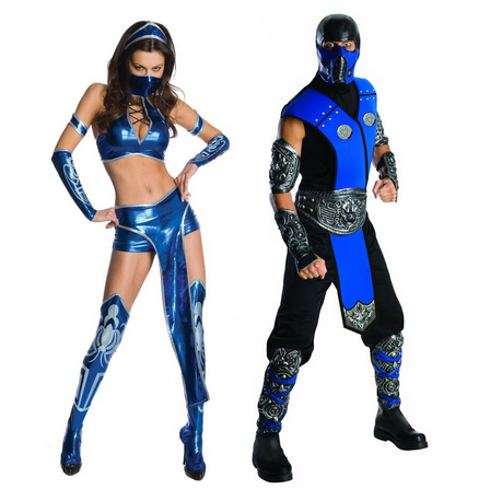 Kitana Sub Zero Halloween Costumes Couple