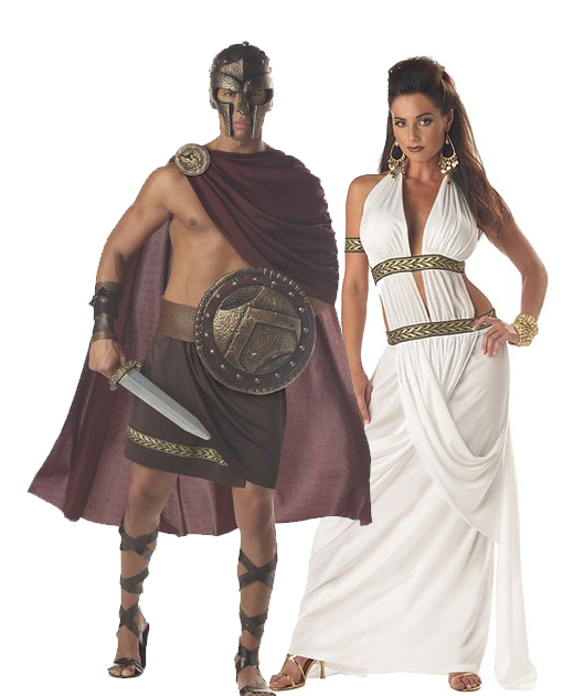 Spartans Costumes Halloween Couple