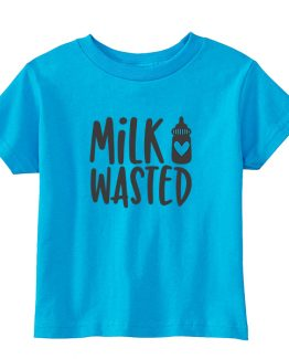 Kids T-Shirt Milk Wasted Toddler Children. Printed and delivered from USA or UK.
