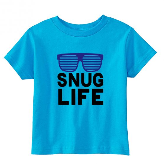 Kids T-Shirt Snug Life Toddler Children. Printed and delivered from USA or UK.