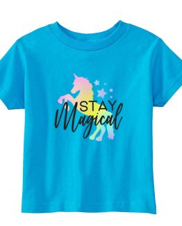 Kids T-Shirt Stay Magical Toddler Children. Printed and delivered from USA or UK.