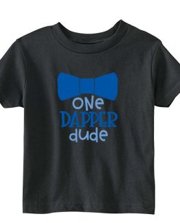 Kids T-Shirt One Dapper Dude Toddler Children. Printed and delivered from USA or UK.