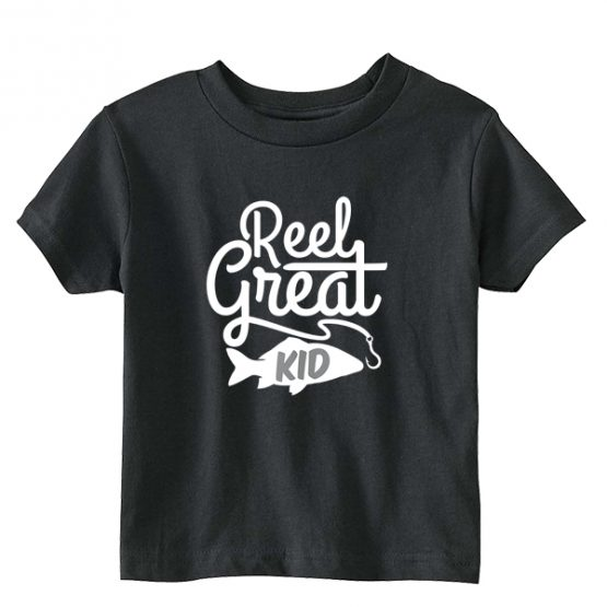 Kids T-Shirt Reel Great Kid Toddler Children. Printed and delivered from USA or UK.
