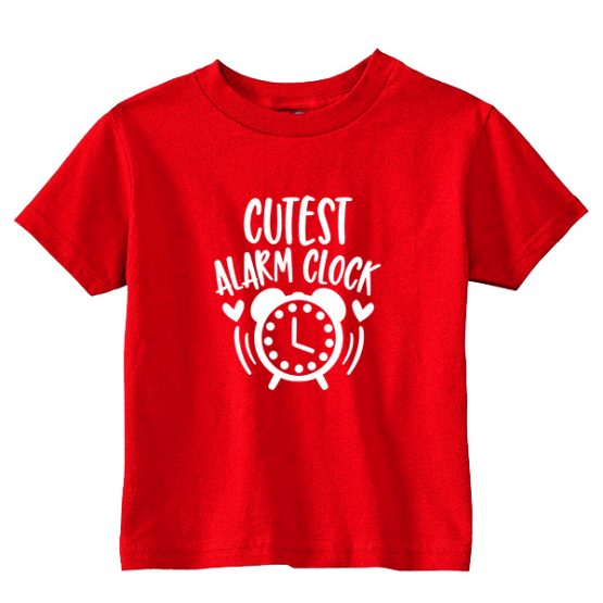 Kids T-Shirt Cutest Alarm Clock Toddler Children. Printed and delivered from USA or UK.