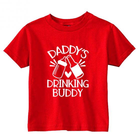Kids T-Shirt Daddys Drinking Buddy Toddler Children. Printed and delivered from USA or UK.