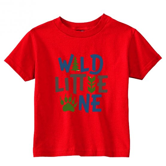 Kids T-Shirt Wild Little One Toddler Children. Printed and delivered from USA or UK.