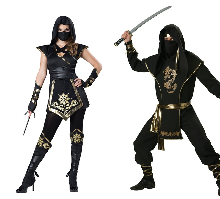 Halloween Costume Ideas Ninja Couple