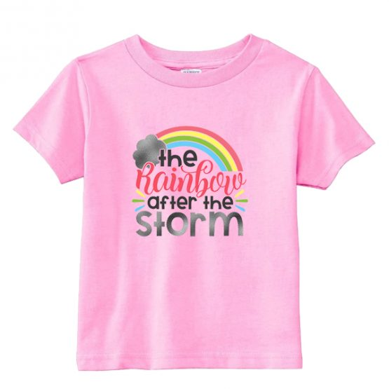 Kids T-Shirt The Rainbow After The Storm Toddler Children. Printed and delivered from USA or UK.