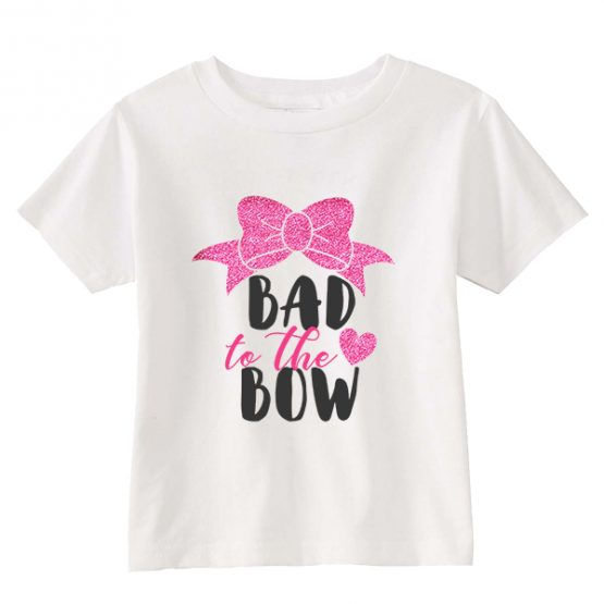 Kids T-Shirt Bad To The Bow Toddler Children. Printed and delivered from USA or UK.