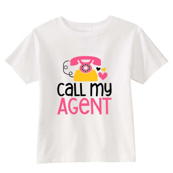Kids T-Shirt Call My Agent Toddler Children. Printed and delivered from USA or UK.
