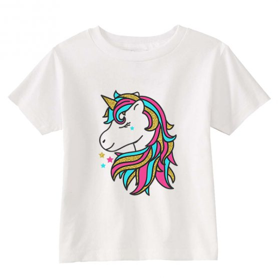 Kids T-Shirt Unicorn Pony Toddler Children. Printed and delivered from USA or UK.