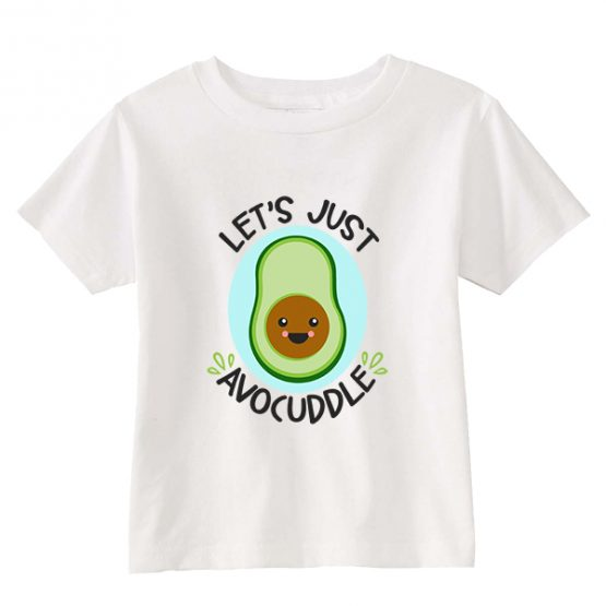 Kids T-Shirt Let's Avocuddle Toddler Children. Printed and delivered from USA or UK.