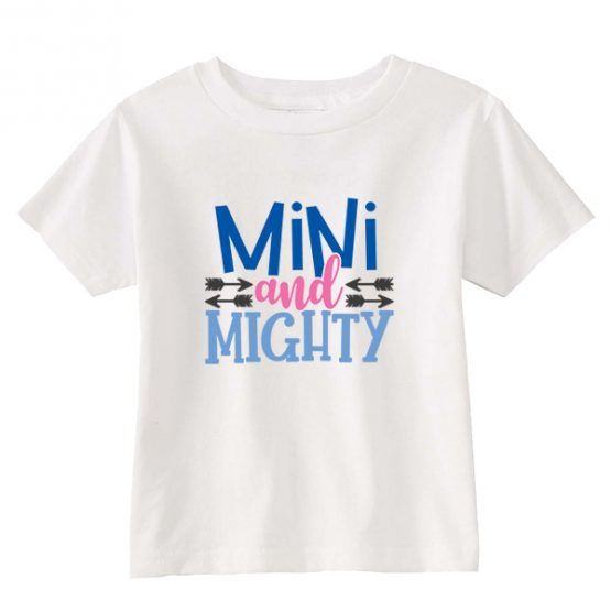 Kids T-Shirt Mini And Mighty Toddler Children. Printed and delivered from USA or UK.