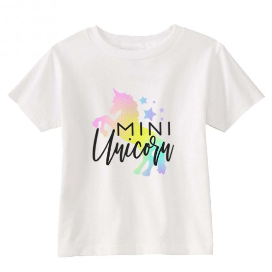 Kids T-Shirt Mini Unicorn Toddler Children. Printed and delivered from USA or UK.